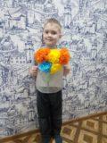 Букет от семьи Тимура Пьянкова ст.гр. Бусинки